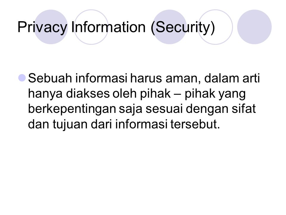 Privacy Information (Security)
