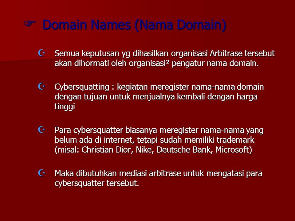 Domain Names (Nama Domain)