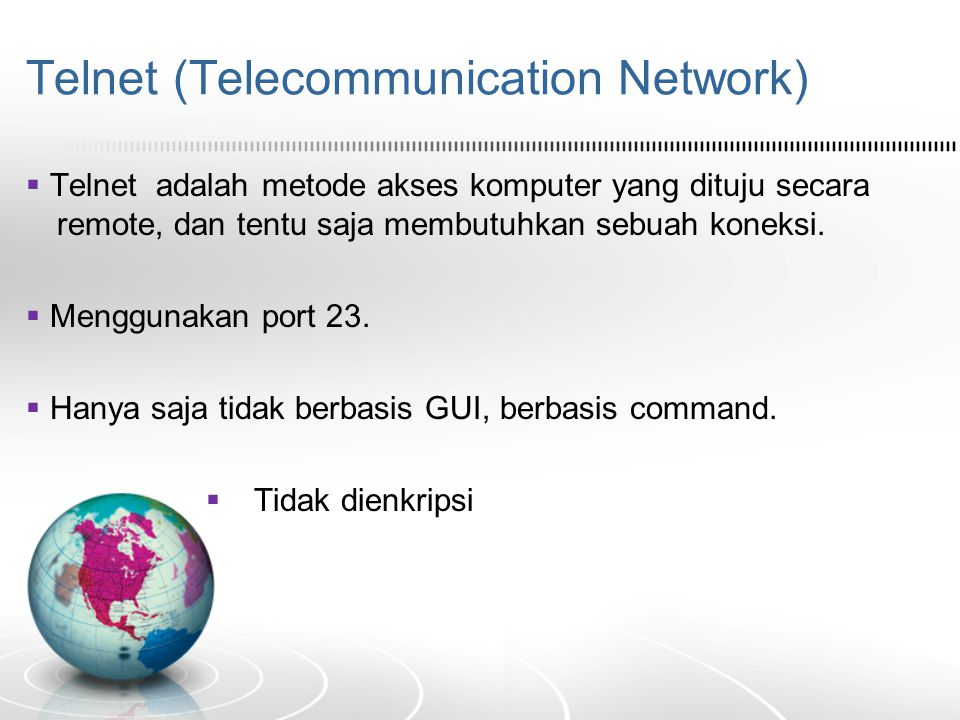 Telnet (Telecommunication Network)