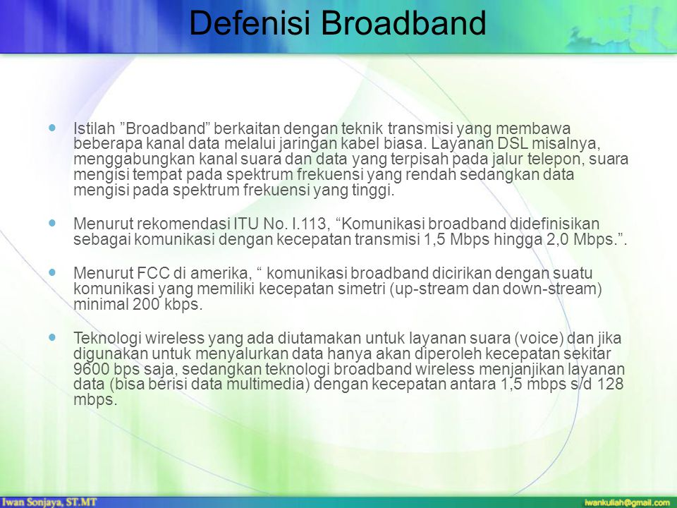 Defenisi Broadband