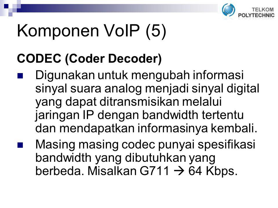 Komponen VoIP (5) CODEC (Coder Decoder)