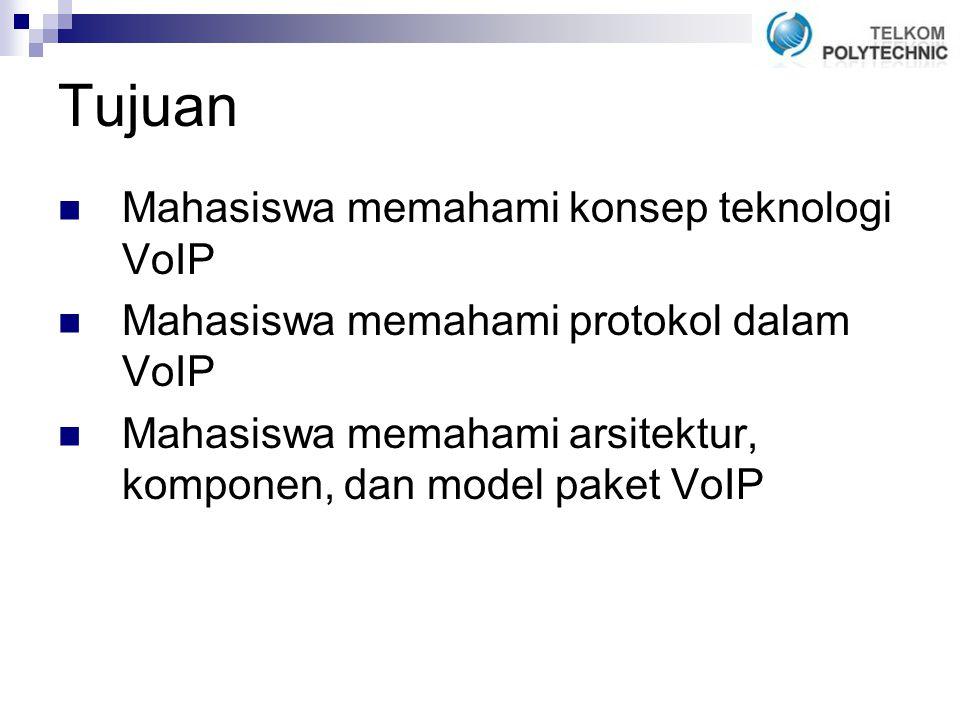 Tujuan Mahasiswa memahami konsep teknologi VoIP