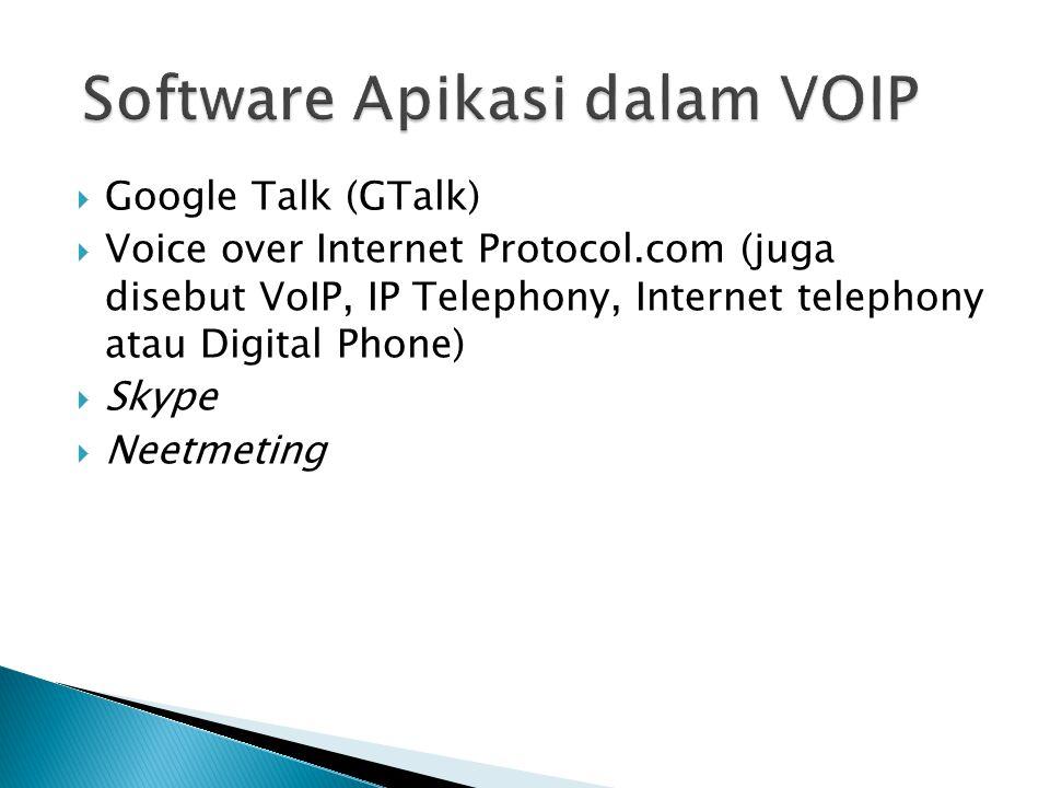 Software Apikasi dalam VOIP
