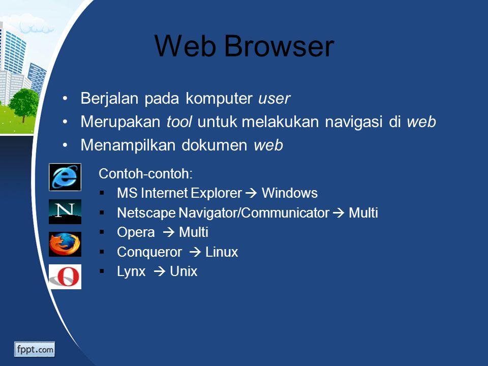 Web Browser Berjalan pada komputer user