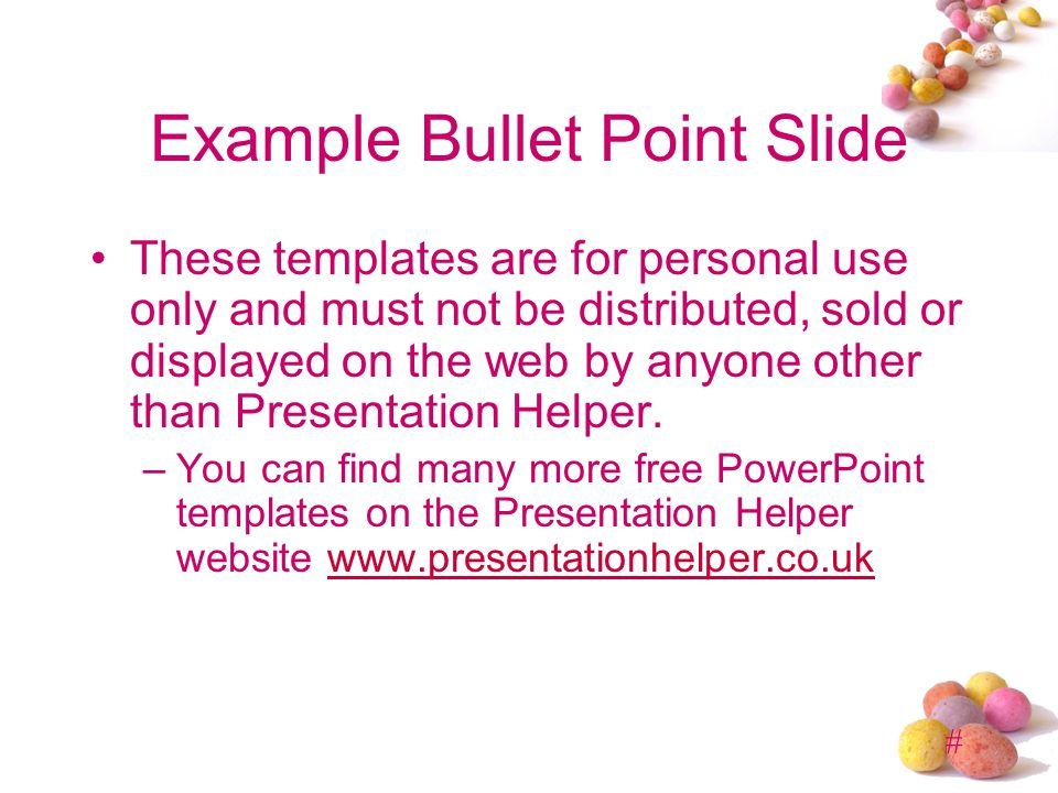 Example Bullet Point Slide