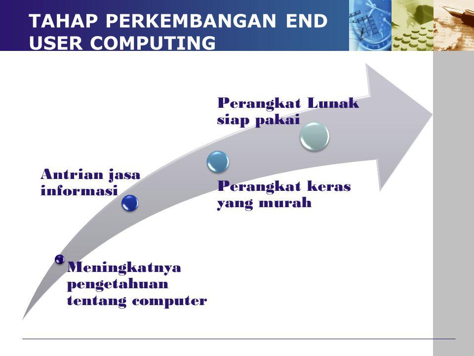 TAHAP PERKEMBANGAN END USER COMPUTING