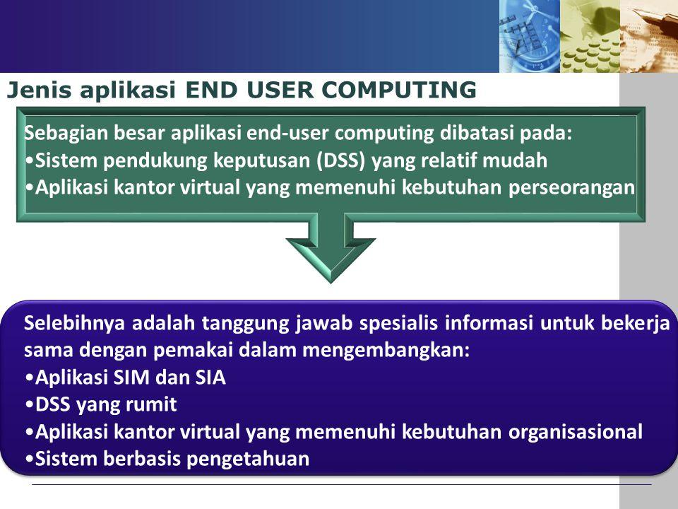 Jenis aplikasi END USER COMPUTING