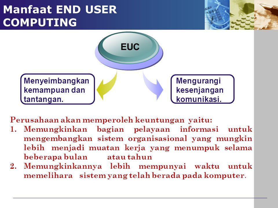 Manfaat END USER COMPUTING