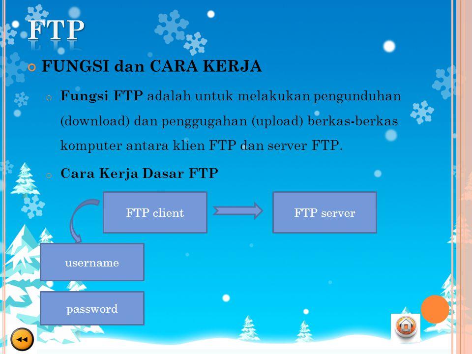 FTP FUNGSI dan CARA KERJA