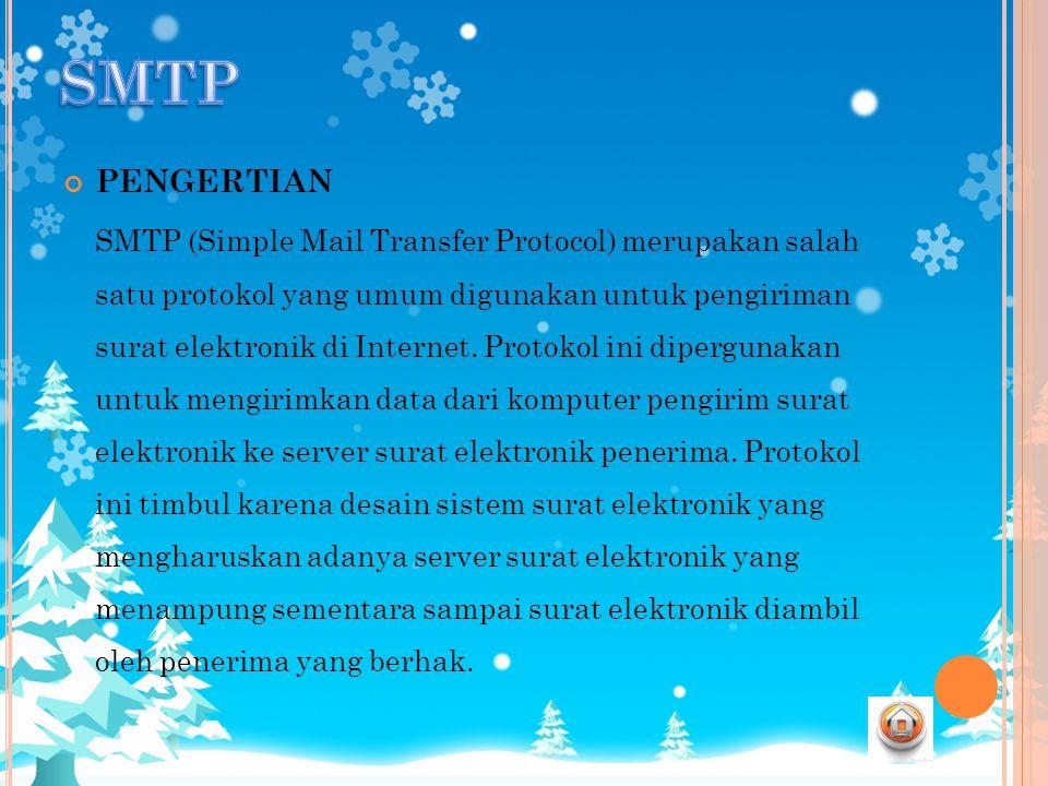 SMTP PENGERTIAN.