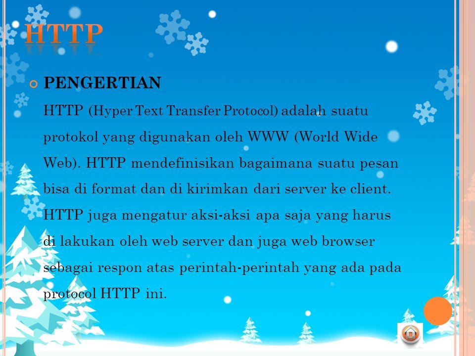 HTTP PENGERTIAN.