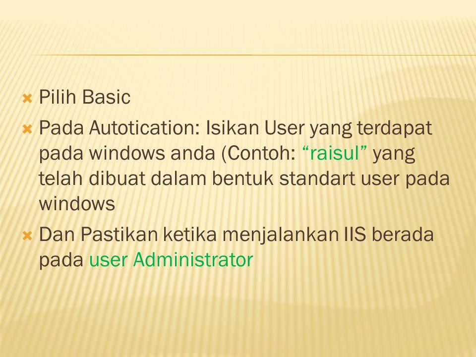 Pilih Basic