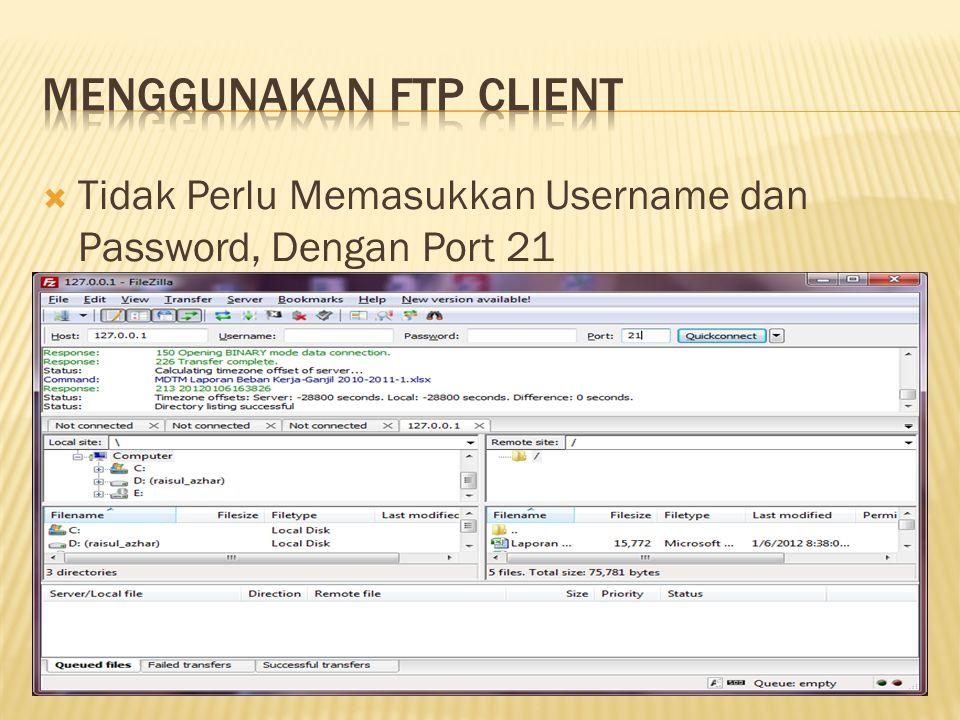 Menggunakan FTP Client