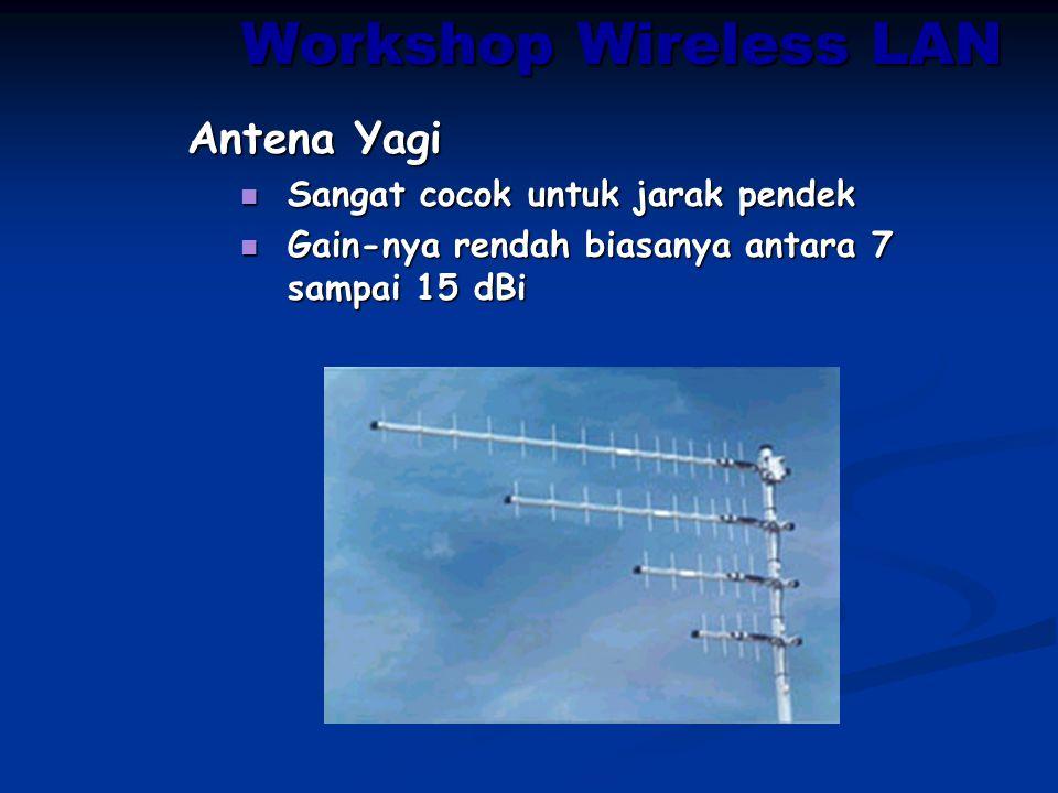 Workshop Wireless LAN Antena Yagi Sangat cocok untuk jarak pendek