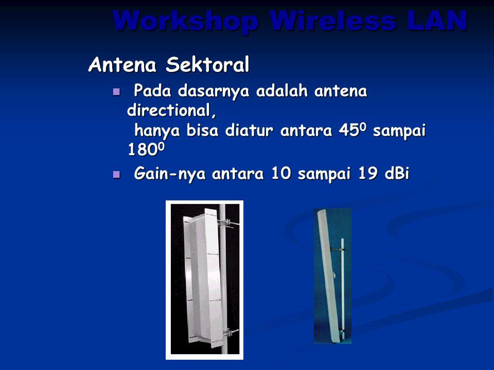 Workshop Wireless LAN Antena Sektoral