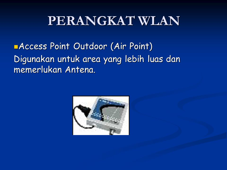 PERANGKAT WLAN Access Point Outdoor (Air Point)