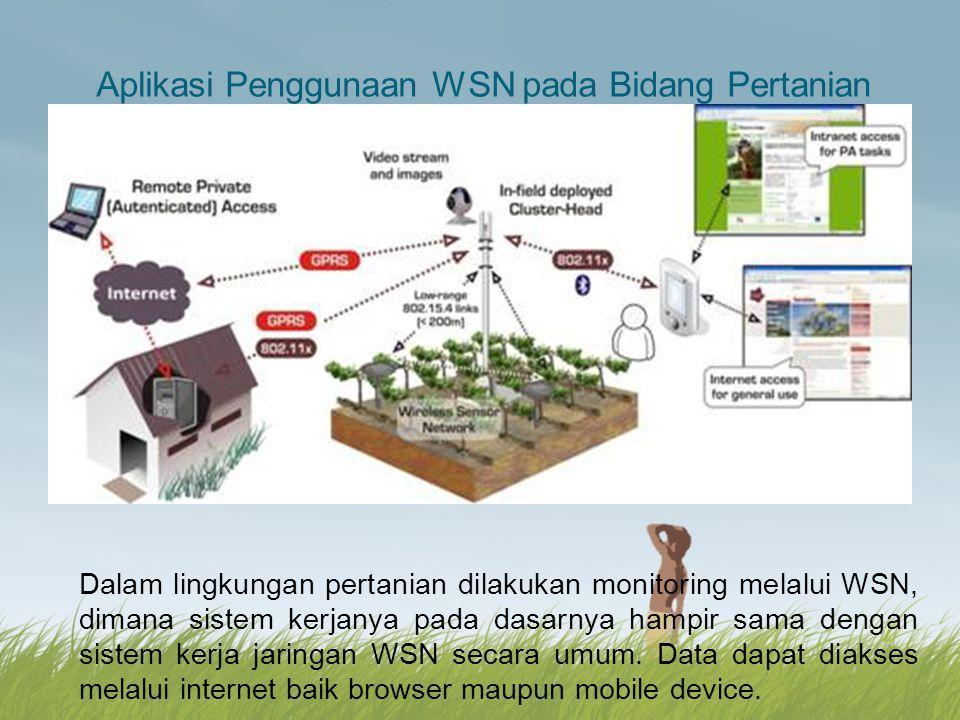 Aplikasi Penggunaan WSN pada Bidang Pertanian