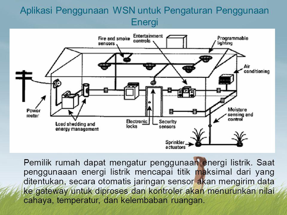 Aplikasi Penggunaan WSN untuk Pengaturan Penggunaan Energi