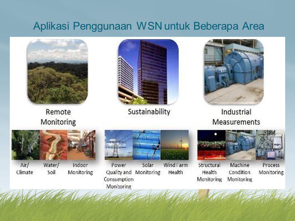 Aplikasi Penggunaan WSN untuk Beberapa Area