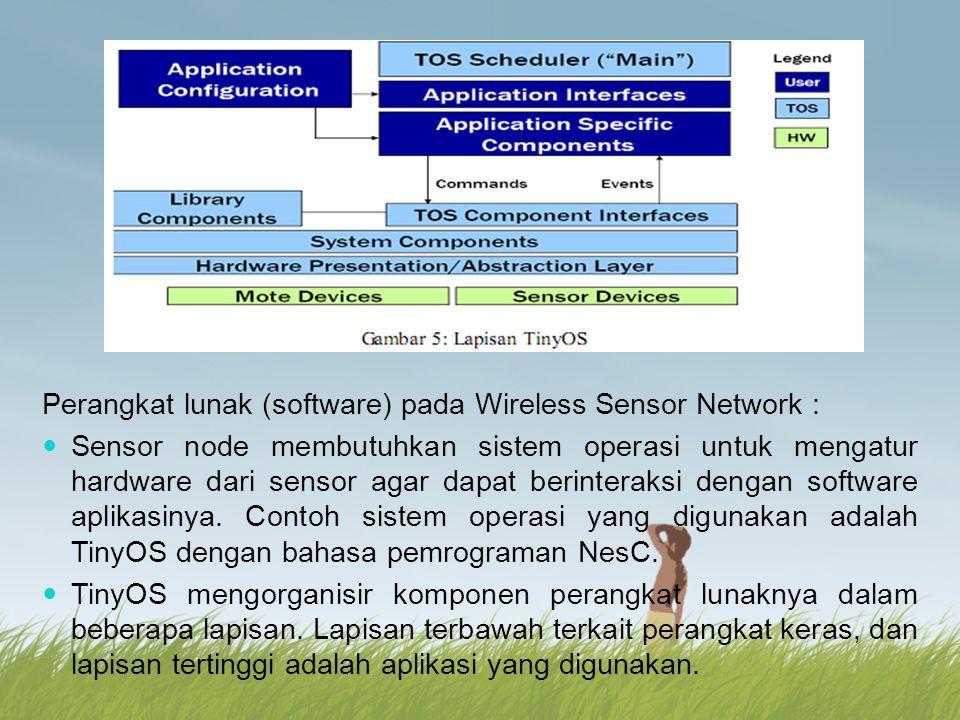Perangkat lunak (software) pada Wireless Sensor Network :