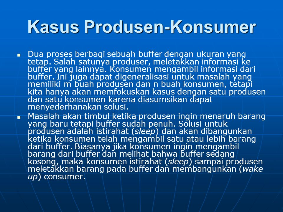 Kasus Produsen-Konsumer