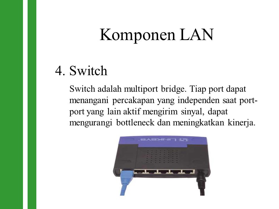 Komponen LAN 4. Switch.