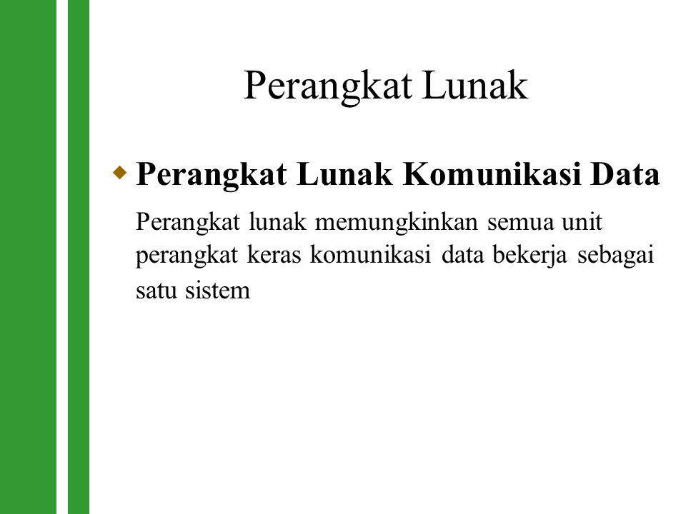 Perangkat Lunak Perangkat Lunak Komunikasi Data