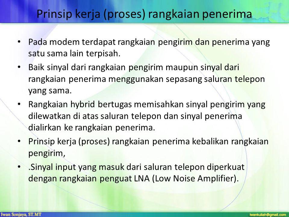 Prinsip kerja (proses) rangkaian penerima