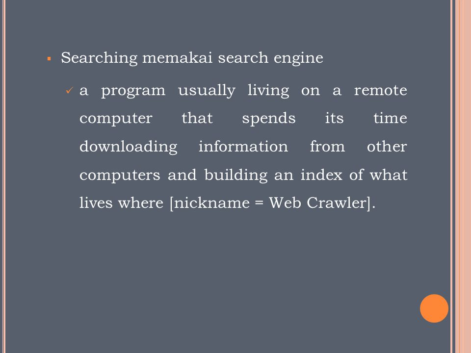 Searching memakai search engine