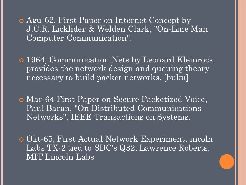 Agu-62, First Paper on Internet Concept by J. C. R