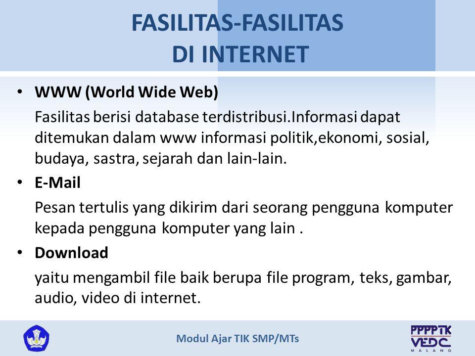 FASILITAS-FASILITAS DI INTERNET