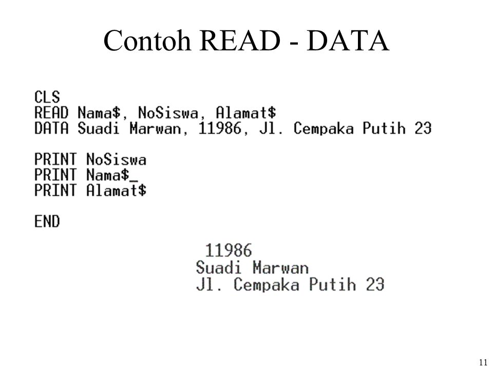 Contoh READ - DATA