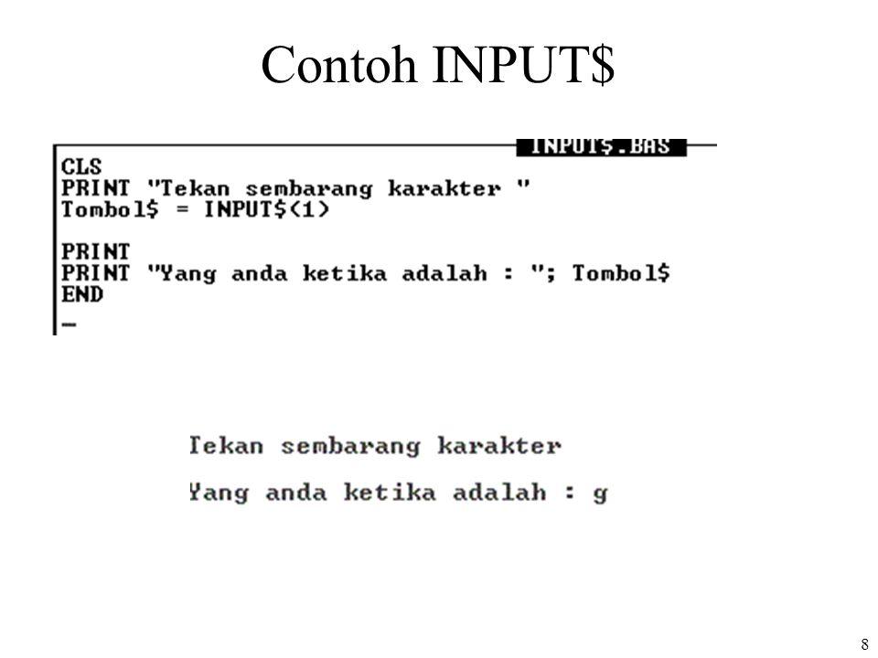 Contoh INPUT$