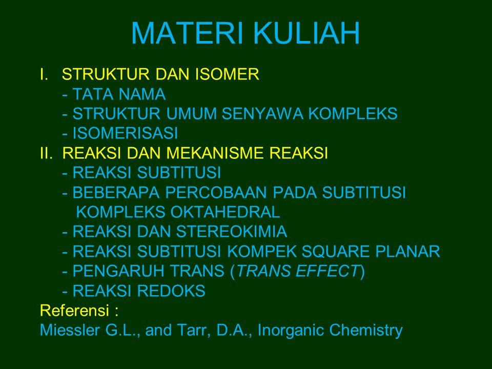 MATERI KULIAH STRUKTUR DAN ISOMER - TATA NAMA