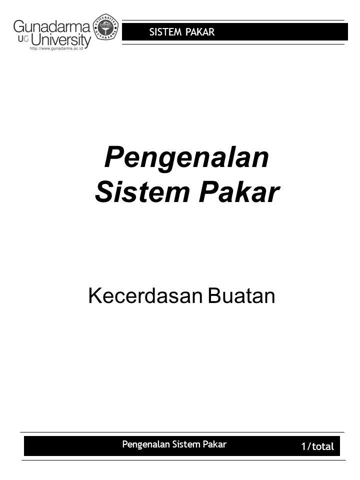 Pengenalan Sistem Pakar