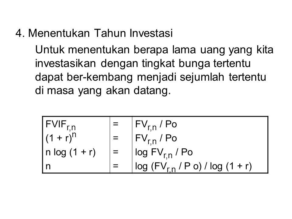4. Menentukan Tahun Investasi