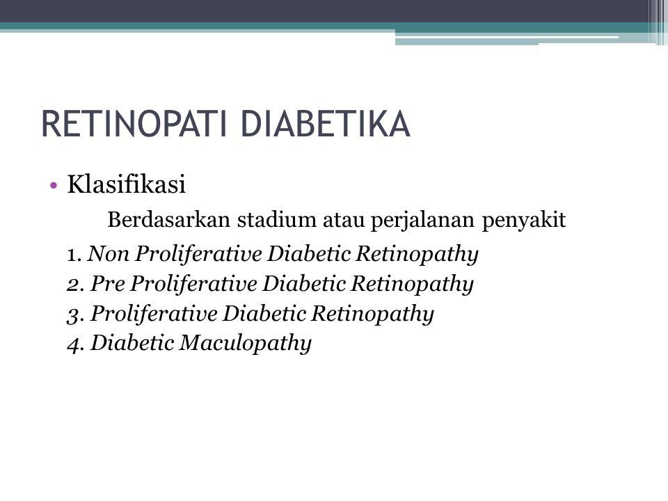 RETINOPATI DIABETIKA Klasifikasi
