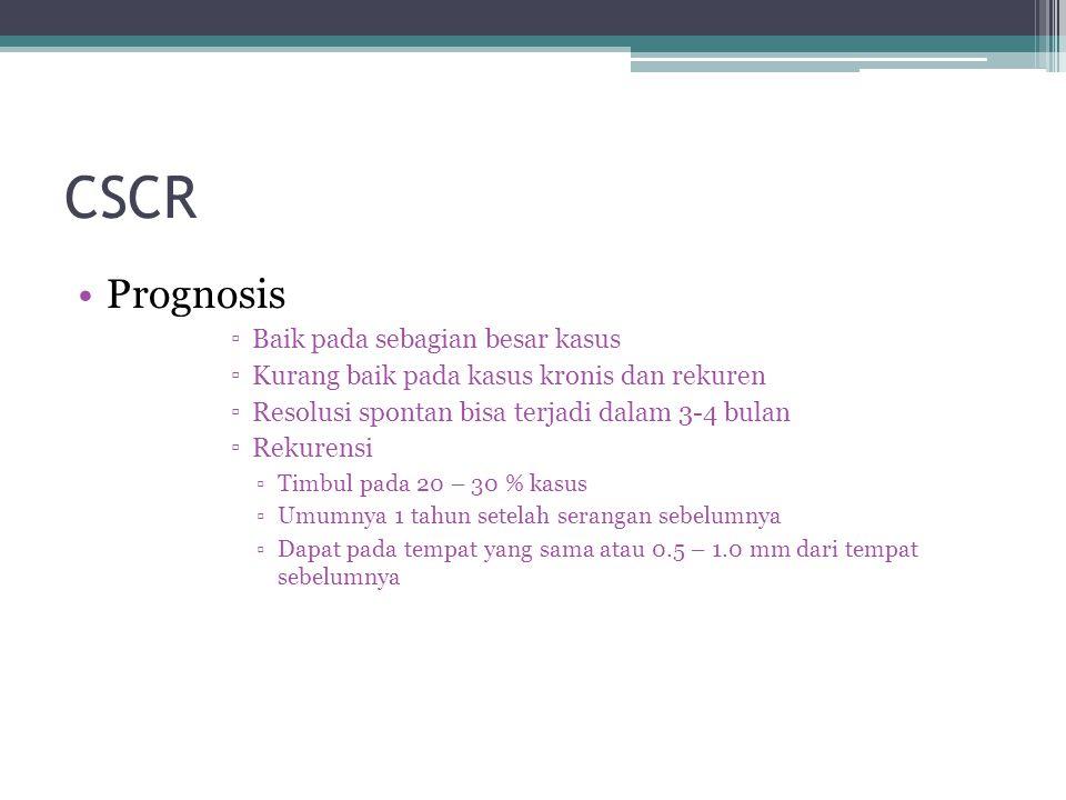 CSCR Prognosis Baik pada sebagian besar kasus