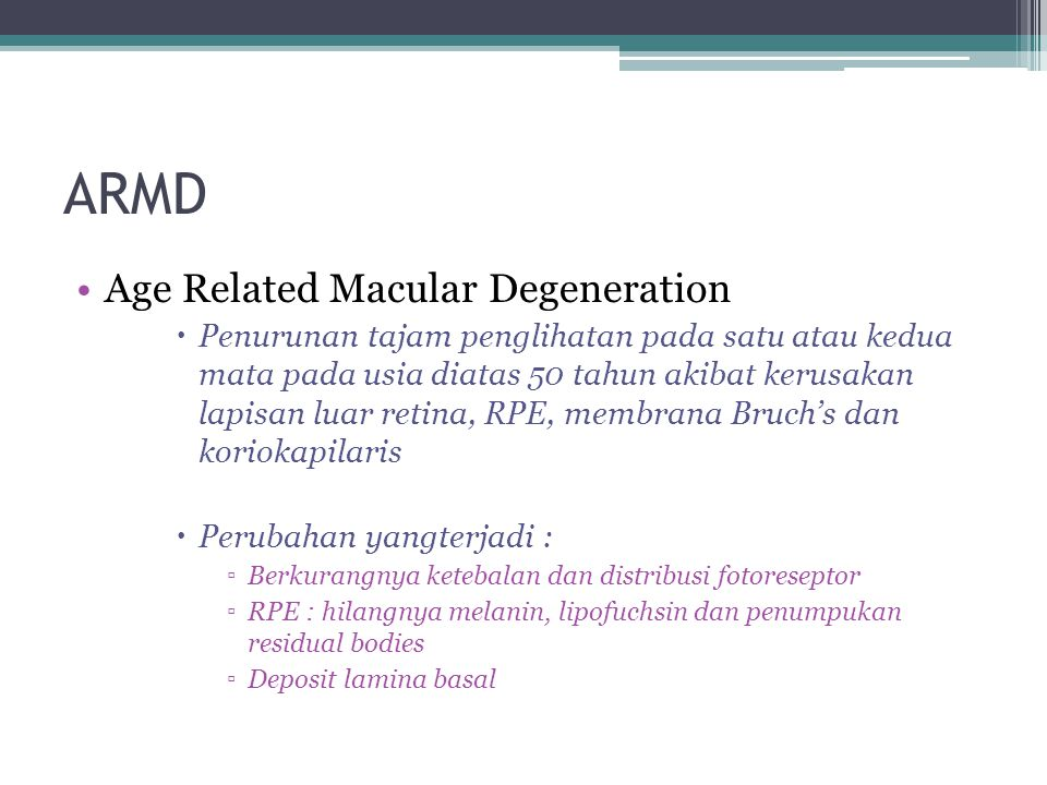 ARMD Age Related Macular Degeneration