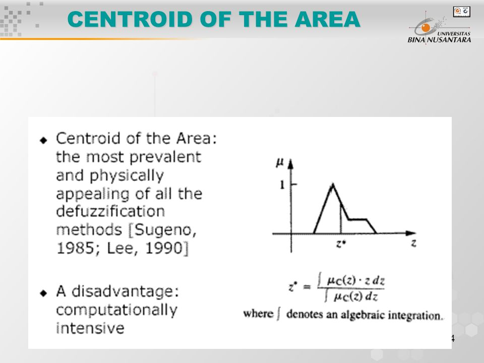 CENTROID OF THE AREA