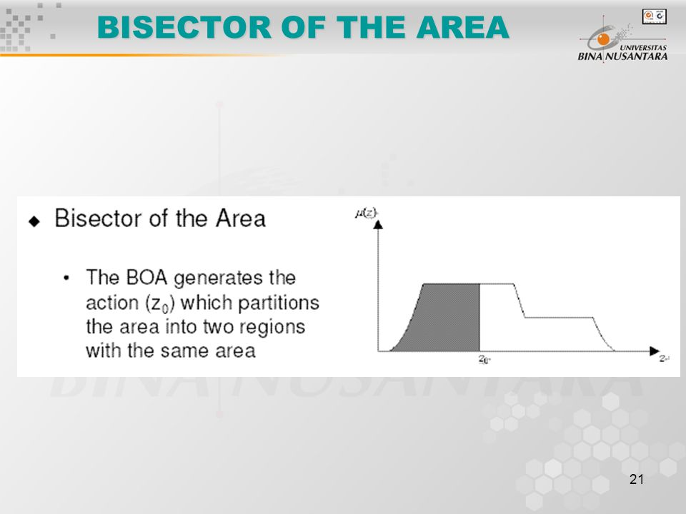 BISECTOR OF THE AREA