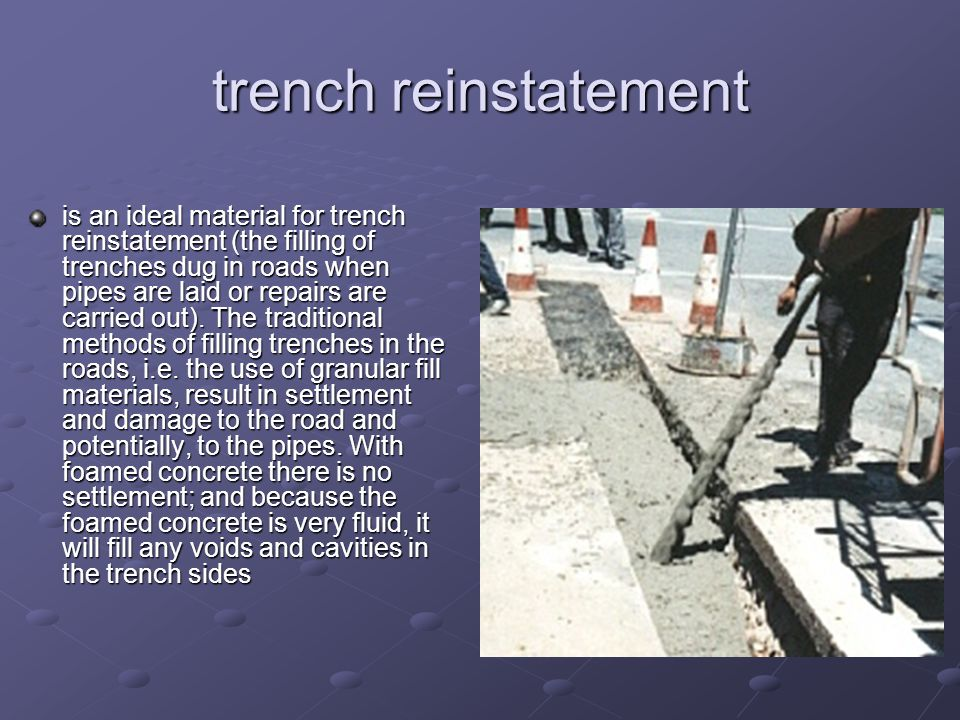 trench reinstatement