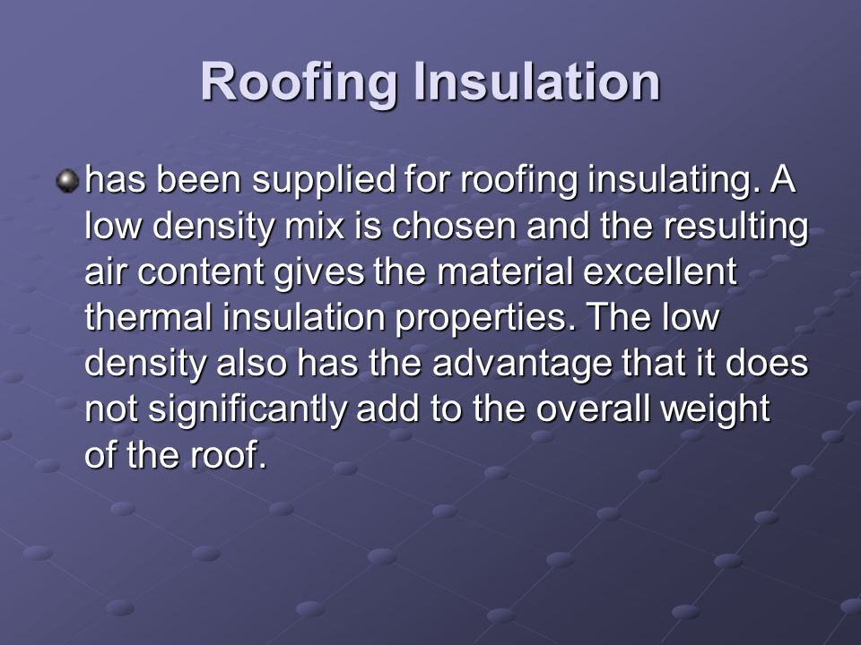 Roofing Insulation