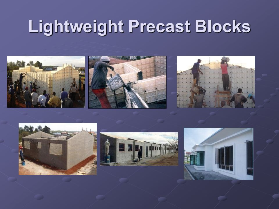 Lightweight Precast Blocks