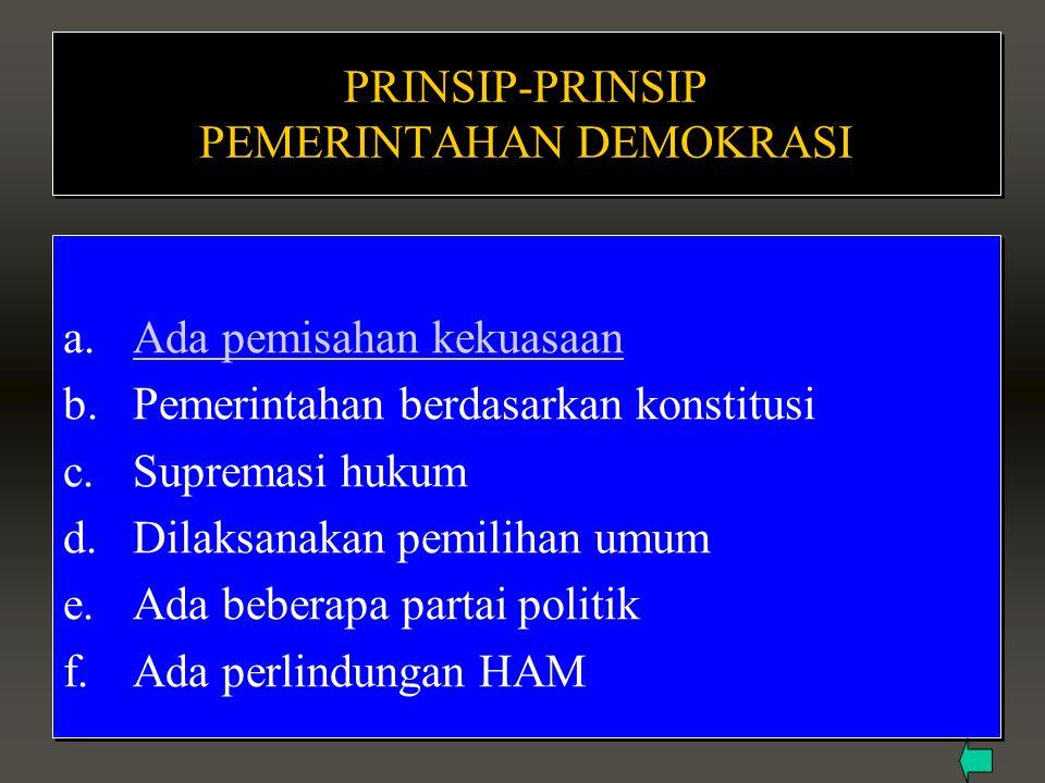 PRINSIP-PRINSIP PEMERINTAHAN DEMOKRASI