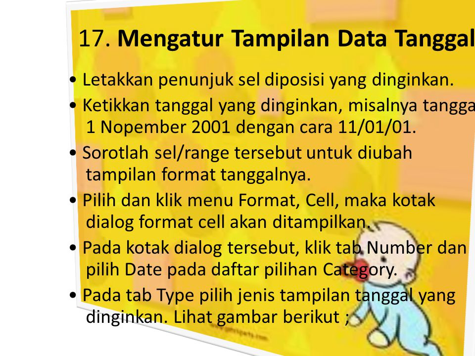 17. Mengatur Tampilan Data Tanggal