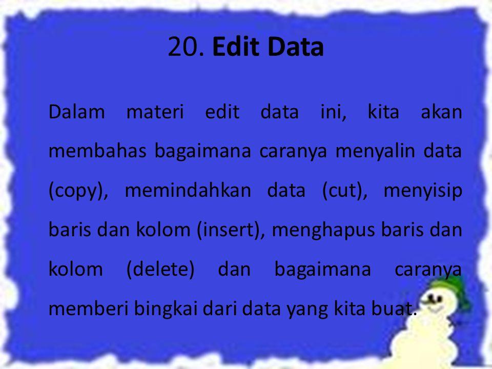20. Edit Data