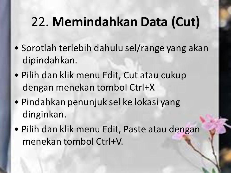 22. Memindahkan Data (Cut)