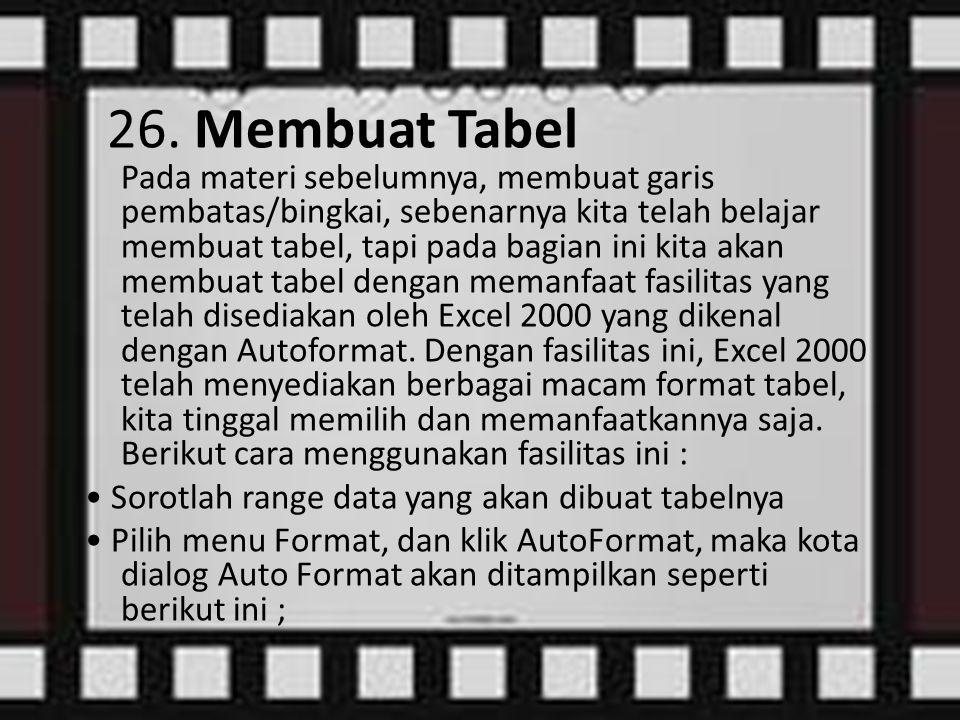 26. Membuat Tabel