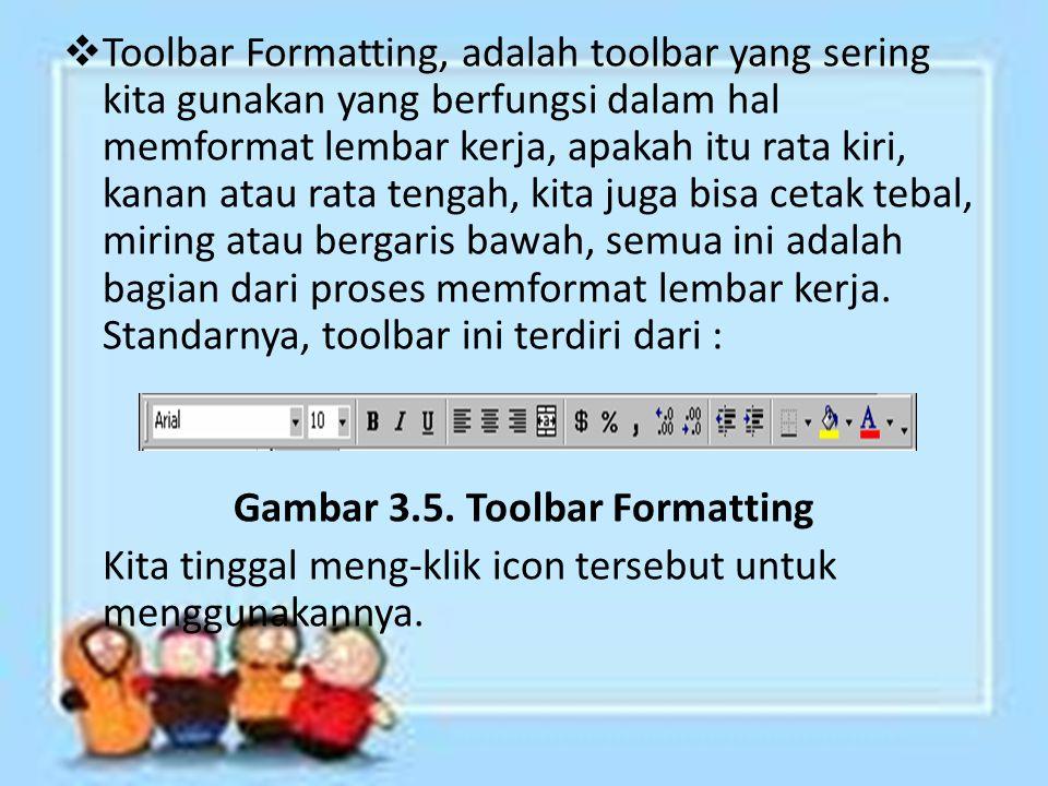 Gambar 3.5. Toolbar Formatting